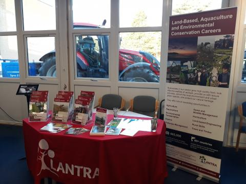 Golspie High School Career Event with tractor