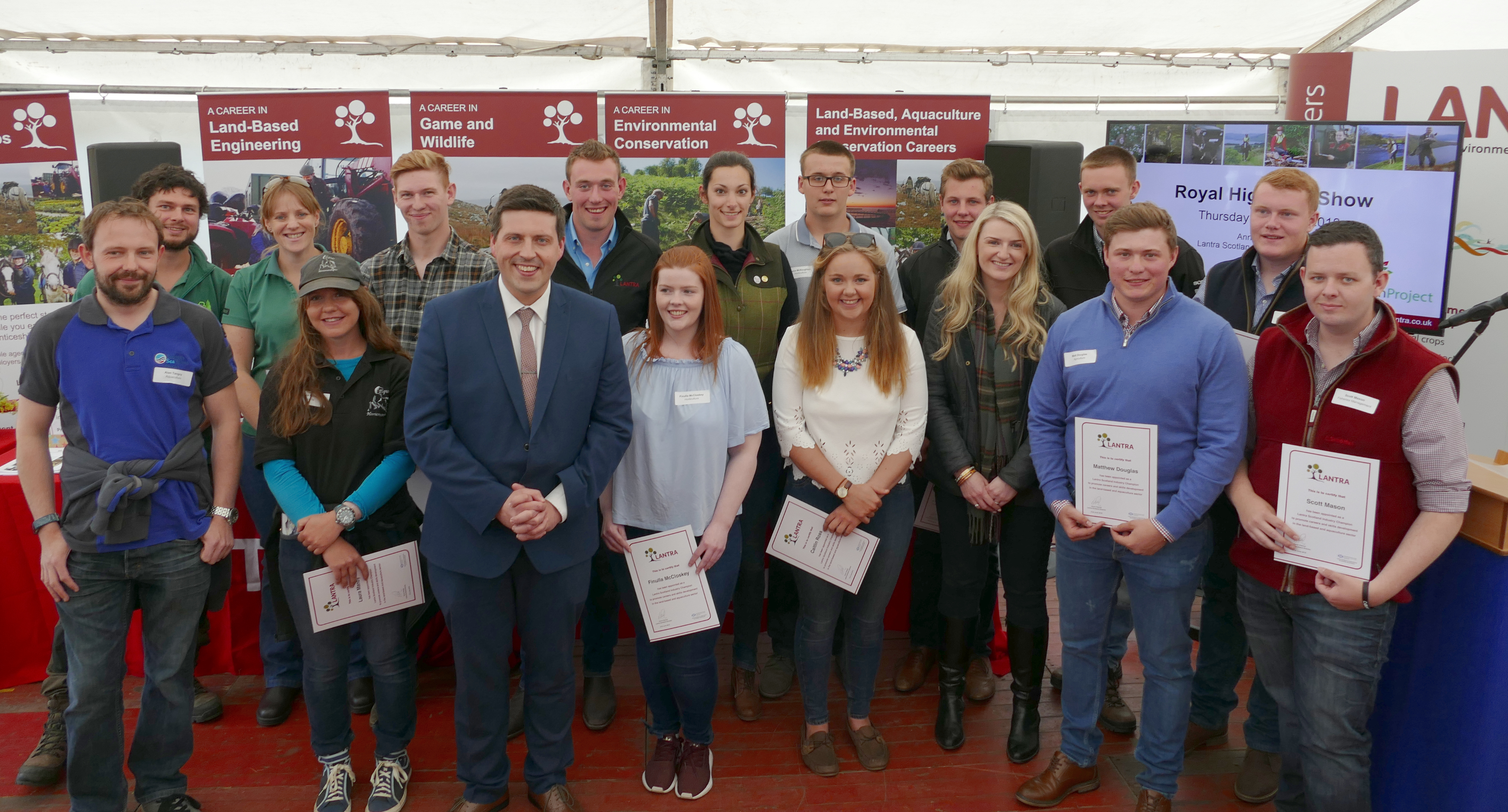 Our industry champions with Jamie Hepburn MSP