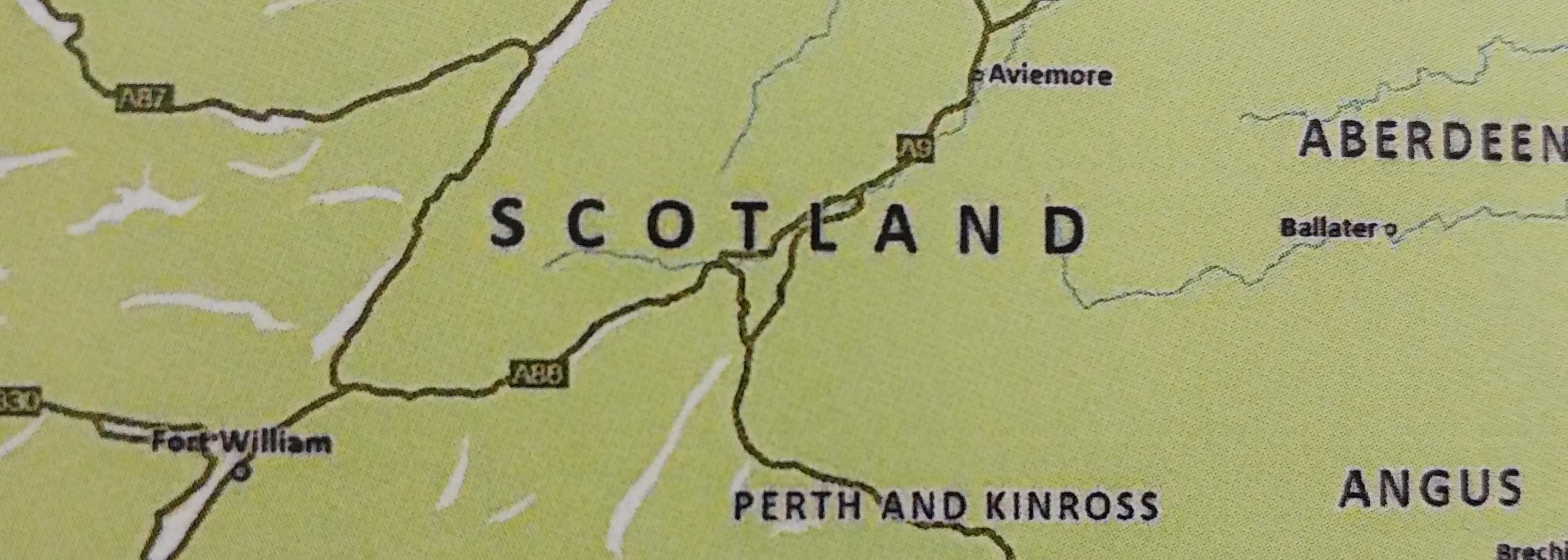 Map of central Scotland