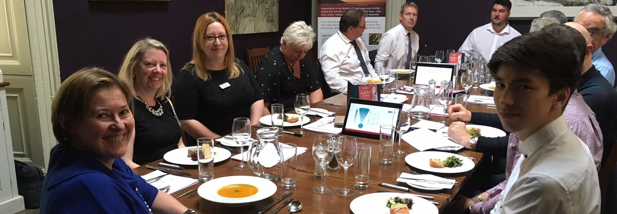 Aquaculture lunch with Lantra Scotland Chairman and industry figures