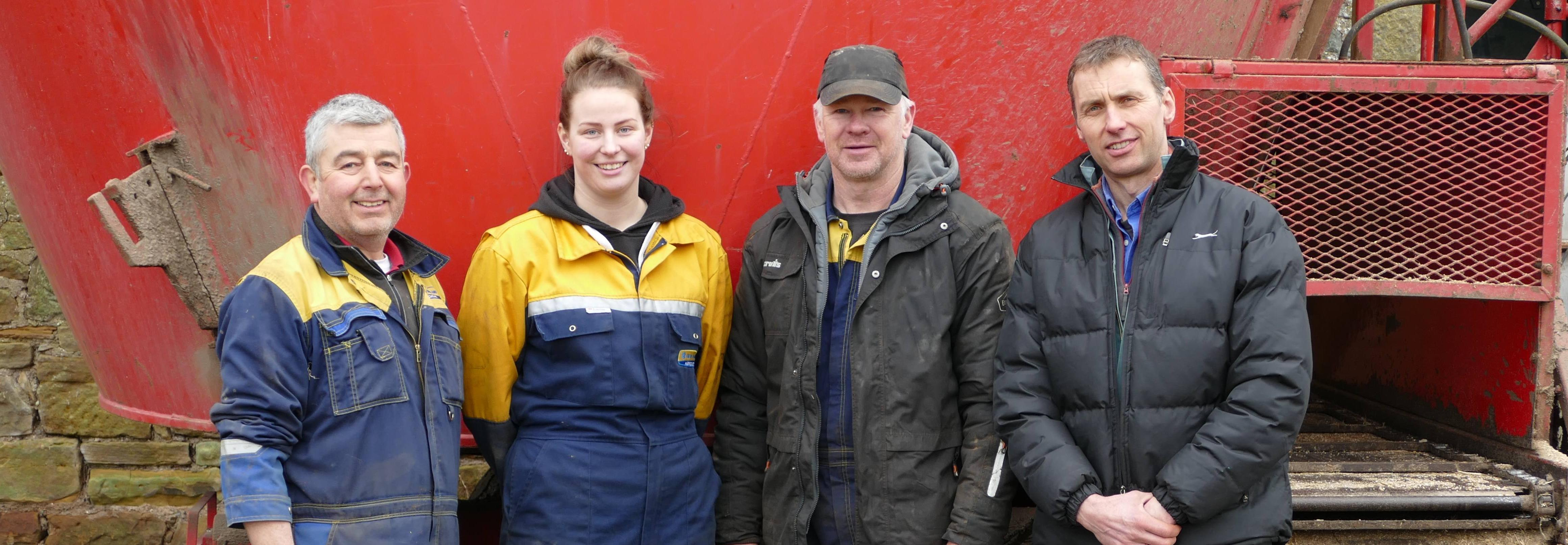 Farmer James Orr and team with Modern Apprentice Erica