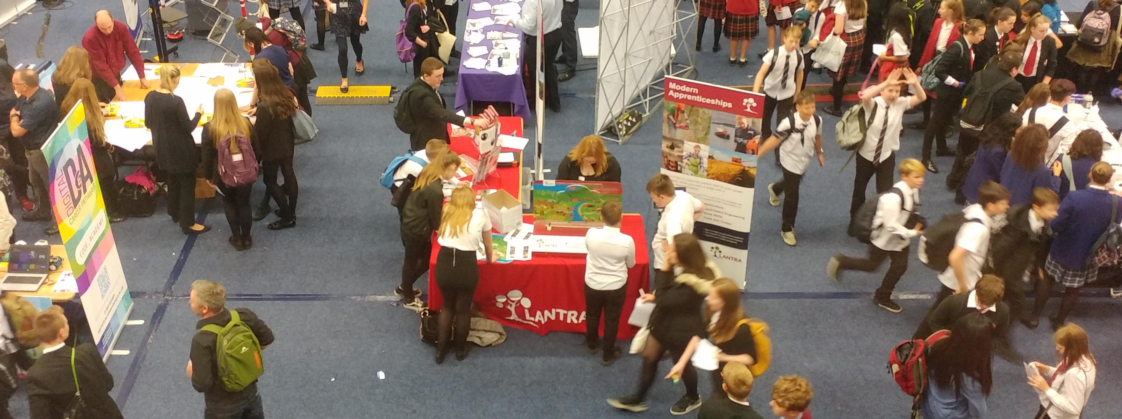 Lantra stand at careers event