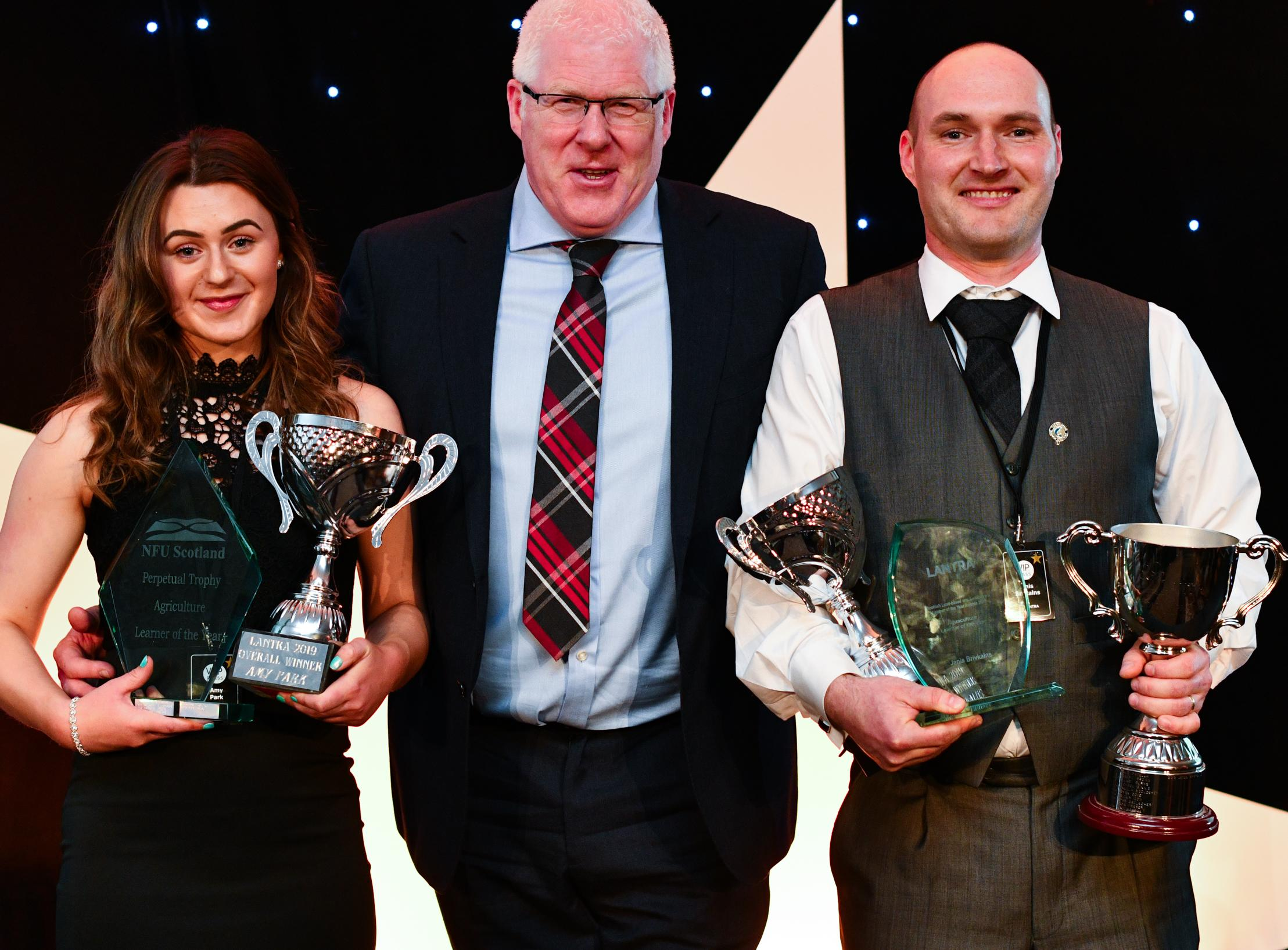 Joint overal learners of the year from Lantra Scotland event