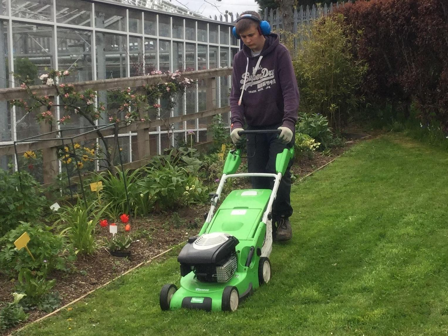 Reece has been doing Scottish Vocational Qualifications in horticulture through Borders College.